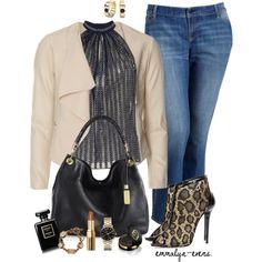 Plus Size Pretty Size Blazer denim jeans black sleeveless top!