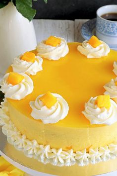 Cake - Jean Lucas // Brazen Faith, LLC - Mango Cake Try this Mango Cake recipe for a cool, not-too-sweet and with a touch of tanginess treat. A perfect balance of flavors that you will surely love. Cake Recipes, Dessert Recipes, Mango Recipes, Mango Desserts, Cold Cake, Filipino Desserts, Filipino Food, Cake Flavors, Savoury Cake