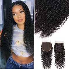 """La'Mo Hair on Instagram: """"#shepretty👸 🔥Curly Bundles With 4x4 5x5 6x6 Lace Closure 8-28 Inch available for you queens👸, get 65% off + $10 off extra when you use code…"""" Weave Hairstyles, Straight Hairstyles, Buy Hair Extensions, Best Virgin Hair, Virgin Hair Bundles, Remy Human Hair, Lace Closure, Lace Wigs, Kinky"""
