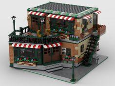 Lego Winter Village, Lego Village, Lego Creations Instructions, Cool Lego Creations, Lego Ninjago City, Lego City, Legos, Cool Things To Build, Big Lego