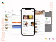 Foodude - Food Delivery App UI KIT designed by Capi Creative Agency. the global community for designers and creative professionals. Delivery App, App Design Inspiration, Mobile App Design, Ui Kit, App Ui, Food Items, Creative