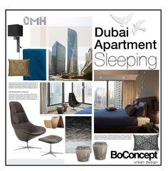 """Dubai Apartment Sleeping"" by szaboesz ❤ liked on Polyvore featuring interior, interiors, interior design, home, home decor, interior decorating and BoConcept"