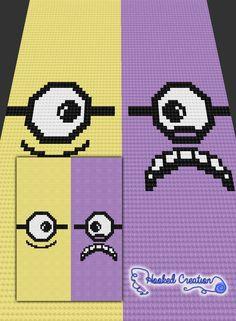 2 Side of Minions C2C Throw Blanket Crochet Pattern - PDF Download