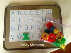 match magnetic letters and letter you have traced