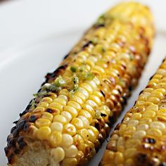 Grilled Corn with Jalapeno Butter--so making this for the next BBQ!