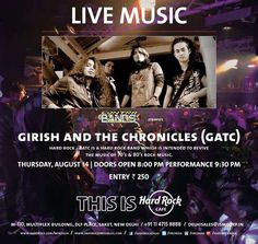 Events in Delhi - Contrabands presents Girish and The Chronicles on 14 August 2014 at Hard Rock Cafe, DLF Place, Saket. 8.pm With a mixture ...