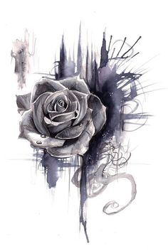 Rose Drawing- Print by Lucky978 (print image)