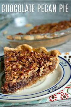 Everyone will love this Chocolate Pecan Pie that is so yummy with all the chocolate chips! Chocolate pecan pie recipe is easy to make. It's sure to impress. Pecan Pies, Chocolate Chip Pecan Pie, Best Pecan Pie, Chocolate Pie Recipes, Chocolate Desserts, Chocolate Chocolate, Best Chocolate Pecan Pie Recipe Ever, Easy Pie Recipes, Pecan Recipes