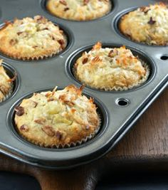 Authentic Suburban Gourmet: Banana, Coconut and Pecan Muffins