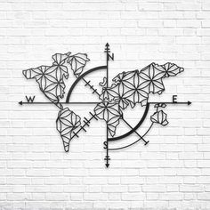 Map of Life - Metal Dekor www.northshire.net #wall #metal #sign #decor #decoration #interior #interiors #minimal #quote #gift #walldecor #idea #ideas #worldmap #map #mapoflife #floweroflife #world #earth