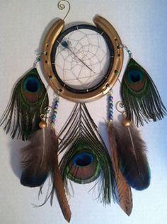 Horse shoe peacock dreamcatcher