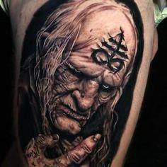 Full Body Tattoo, Body Art Tattoos, Sleeve Tattoos, Scary Tattoos, Cool Tattoos, Tatto Viking, Tebori Tattoo, Mario Tattoo, Live Tattoo