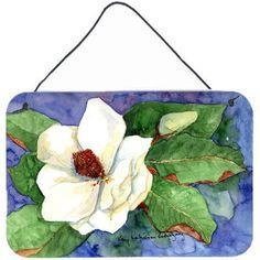 Caroline's Treasures Flower Magnolia Aluminum Painting Print Plaque