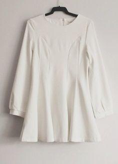 Kup mój przedmiot na #vintedpl http://www.vinted.pl/damska-odziez/krotkie-sukienki/15513762-biala-rozkloszowana-sukienka-tunika-s-m
