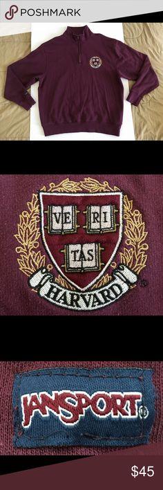 073b1fc4 Jansport HARVARD University Crimson Sweater Sz XL 100% AUTHENTIC & IN USED  BUT NEAR PERFECT