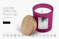 Candle Mock-up by dennysmockups on @creativemarket