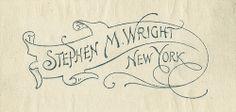 [Bookplate of Stephen M. Wright] by Pratt Institute Library, via Flickr
