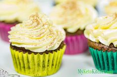 Look no further for the BEST Low Carb Cupcake Recipe, we've got it right here. Just for you. These cupcakes are beautifully light and fluffy