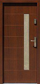 Drzwi zewnętrzne nowoczesne model 478,2 w kolorze orzech