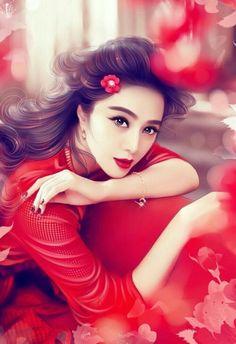 Beautiful lady anime fantasy, fantasy art, fan bingbing, painting of girl, fantasy Lovely Girl Image, Cute Girl Photo, Stylish Girl Images, Stylish Girl Pic, Beautiful Fantasy Art, Beautiful Anime Girl, Beautiful Paintings, Cute Girl Wallpaper, Digital Art Girl