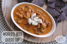World's Best Queso Dip Recipe #appetizers #dip