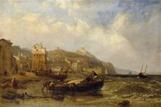 A View of Vietri in the Gulf of Salerno, 1855 by  Clarkson Frederick Stanfield (British 1793–1867)