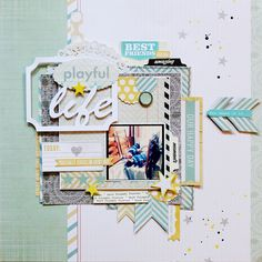 Thanks for pinning me: PLAYFUL LIFE for Scaptastic kit club byLilith Eeckels. Free cut file on blog!