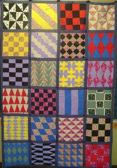 """Jennifer Smith, teacher, Stewartsville Middle School: """"With one of my classes, we constructed a tessellation quilt, 5' x 6' that hangs in our school. It is made up of 24 different tessellation designs sewn together to form a quilt"""""""