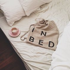 Coffee and brand new IN BED Store linen. AKA the perfect start to a weekend.