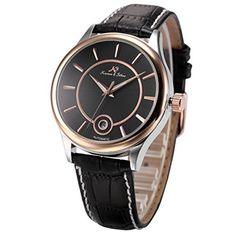 KS-KS264, Men's Automatic Mechanical Watch Analog Date Display Black Leather Band by KS -- Awesome products selected by Anna Churchill