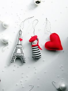 Paris je t'aime Christmas Ornament