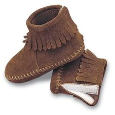 Minnetonka Infant's Shoes - Back Flap Bootie in Brown