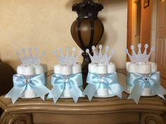 Prince mini diaper cakes/Prince Baby shower by InspiredbyElena