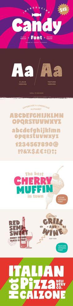 Candy Font. Sans Serif Fonts. $12.00
