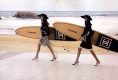 OMG...can you imagine? Chanel surfboards. I'd face my fears with one of these lovely boards!