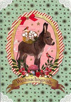 Christmas Post Сards ( Germany) — Christmas Burro  (589x850)