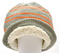 Winter Urban Pipeline Men Women Waffle Beanie Gray Orange Stripe Hat 1Size 0027 #UrbanPipeline #Beanie