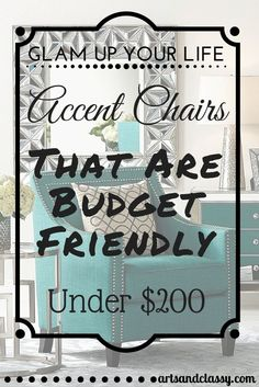 15 Elegant Accent Chairs On A Budget Green ChairLiving Room