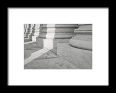 Stone Framed Print featuring the photograph Pillars Of Law And Justice by…