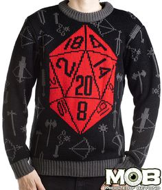 8364562604 Critical Hit Sweater from MIDDLEOFBEYOND.COM  middleofbeyond Holiday Sweater