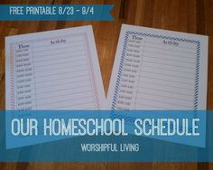 Our Homeschool Schedule (With Printable) - Worshipful Living