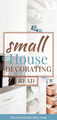 Discover 9 small house decoration ideas and home decor ideas for small homes written by Real Estate Agent Joy Bender Farmhouse Style Bedrooms, Farmhouse Bedroom Decor, Small House Decorating, Small House Design, Decorating Tips, San Diego, La Jolla, Beach House Decor, Diy Home Decor