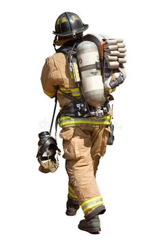 Photo about Fireman Walking with a Fire Hose and Mask. Image of destroy, silhouette, silhouetted - 10834534 Firefighter Room, Female Firefighter, Fire Dept, Fire Department, Fire Hose, Its A Mans World, En Stock, Water Pipes, Army