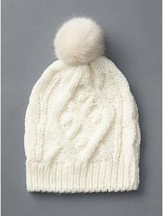 e32612d510d Gap Women Cable Knit Pom Pom Beanie ( 25) ❤ liked on Polyvore featuring  accessories