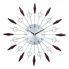On Hold For D And S Midcentury Modern Starburst Clock