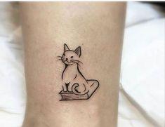 Book Tattoo Small Symbols 28 Ideas For 2019 Classy Tattoos For Women, Tattoos For Women Small, Small Tattoos, Tattoos For Guys, Black Cat Tattoos, Leg Tattoos, Body Art Tattoos, Dream Tattoos, Fairy Tattoo Designs