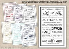 Hotel Welcome Bag or Box - wedding thank you cards for out of town guests. we also offer this as part of a bundle package!    ~ We also print and