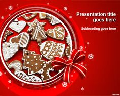 Free Christmas baking PowerPoint template is available for download on latest and previous versions of Microsoft PowerPoint and iWork.