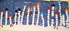 Snowmen names mural!