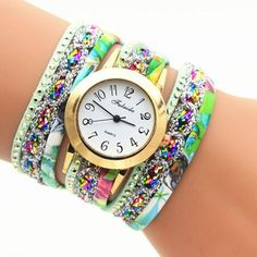 Colorful Print Multilayer Bracelet Watch sold by Watch Me. Shop more products from Watch Me on Storenvy, the home of independent small businesses all over the world.